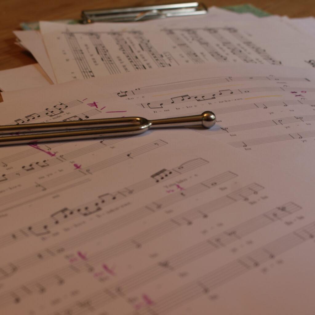 Chortagungsvorbereitung